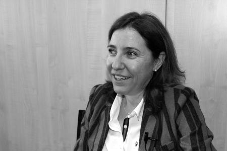 Lourdes Pérez durante la entrevista
