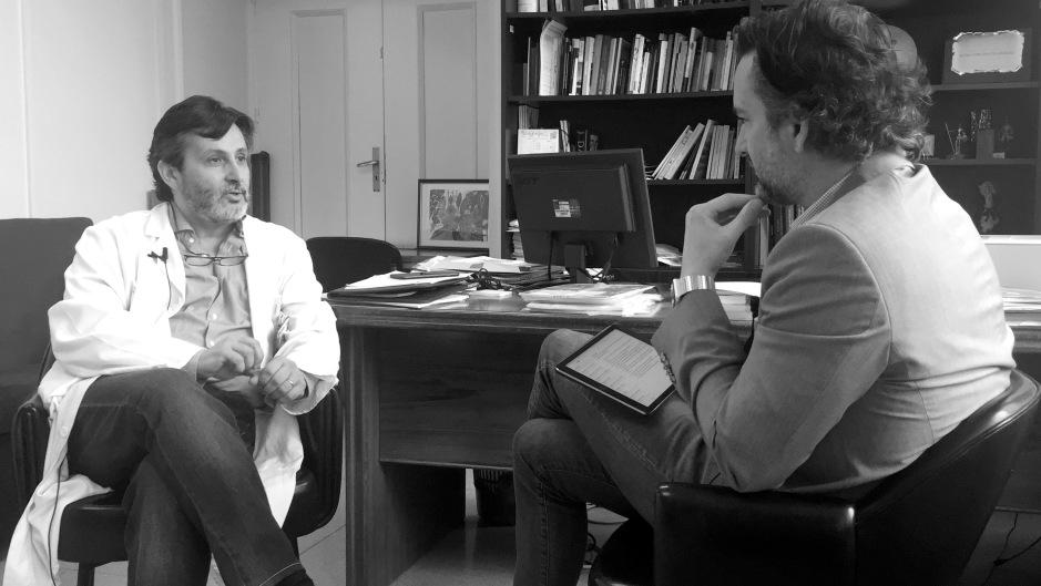 Mayol con J.A. Alguacil durante la entrevista